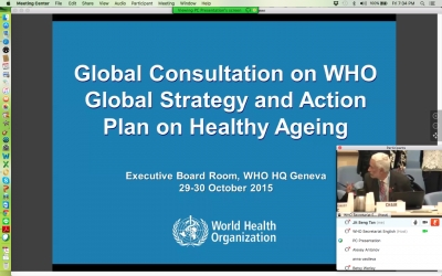 29th – 30th October 2015: Global Consultation on the WHO Strategy and Action Plan on Healthy Ageing